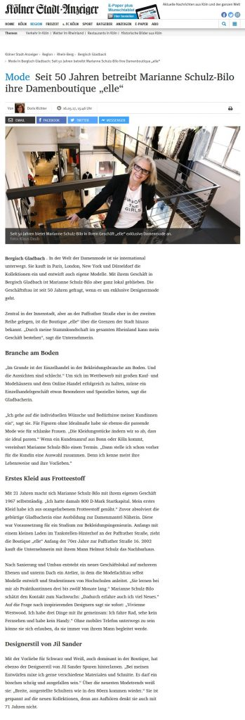 Screenshot KStA Artikel
